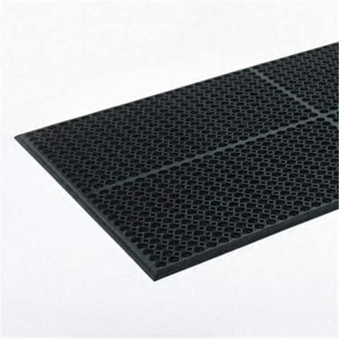 Crown WSCT35BK Safewalk-Light Heavy-Duty Antifatigue Mat- Rubber- 36 x 60- Black