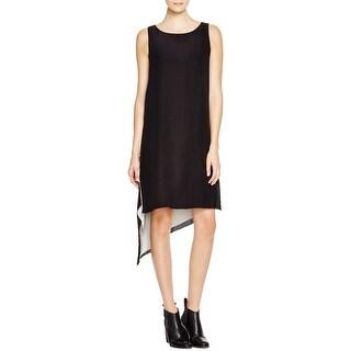Eileen Fisher Womens Petites Casual Dress Silk Asymmetric (Option: Pl)