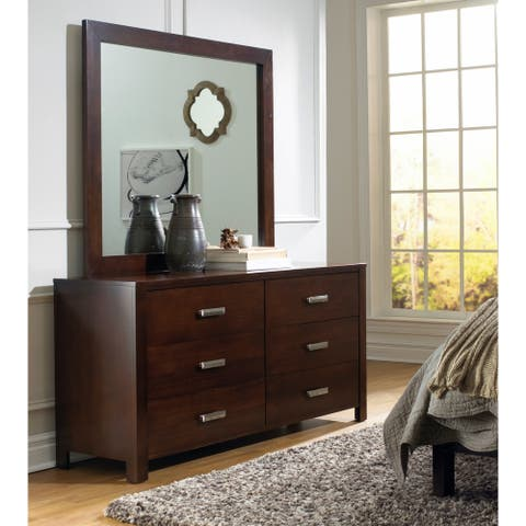 Riva Mirror in Chocolate Brown