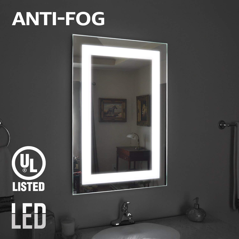 Fog Free Led Illuminated Makeup Vanity Mirror Light With Internal Lighting Ring 1pack Overstock 25455519