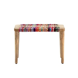 Link to Betsy Colorful Woven Bench Similar Items in Living Room Furniture