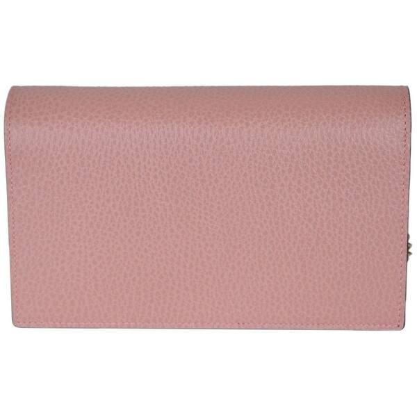 cceb35ca6 Gucci 510314 Pink Leather Interlocking GG Crossbody Wallet Bag Purse Clutch  - Soft Pink - 7.5
