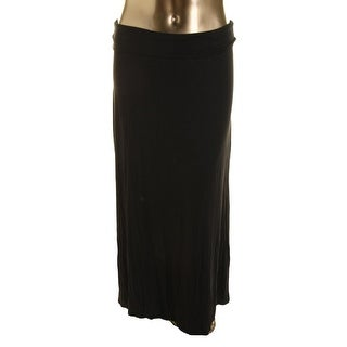 Studio M Womens Maxi Skirt Ruched Fold Over