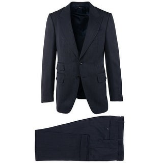 Tom Ford Grey Wool Micro Striped Shelton Two Piece Suit - 38 r