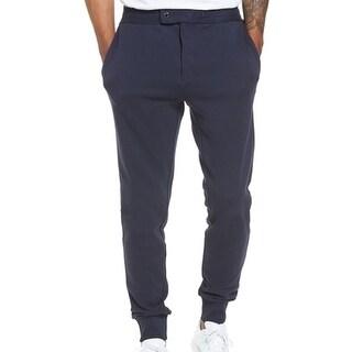Hugo Boss NEW Blue Mens Size 2XL XXL Lamont Snap Tab Sweat Pants