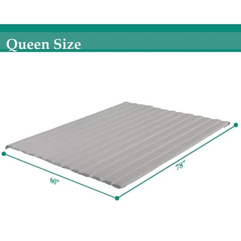 ONETAN 0.75-Inch Vertical Wooden Mattress Support Bed Slats / Bunkie Board With Cover.
