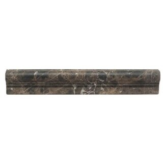 """Daltile M212CRU Marble Collection - 12"""" x 2"""" Chair Rail Wall Tile - Honed Marble"""