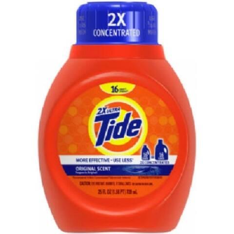 Tide 13875 Liquid Detergent, Regular Scent, 25 Oz
