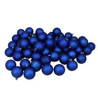 "60ct Lavish Blue Shatterproof Matte Christmas Ball Ornaments 2.5"" (60mm)"