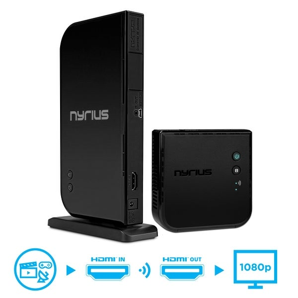 Nyrius ARIES Home HDMI Digital Wireless Transmitter & Receiver for HD 1080p Video Streaming (NAVS500)