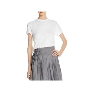 Vince Womens T-Shirt Short Sleeves Swing - XS