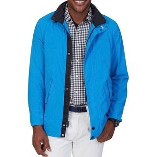 Nautica Mens Meridian Rainwear Coat Water Resistant Long Sleeves