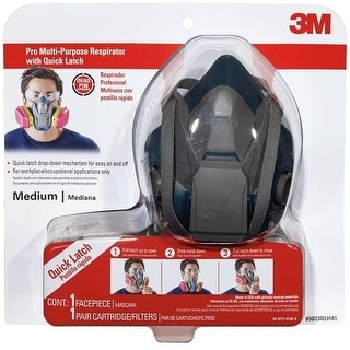 3M 65023QLHA1-C Paint Project Respirator With Quick Latch, Medium