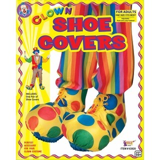Circus Clown Adult Costume Shoe Covers - YELLOW