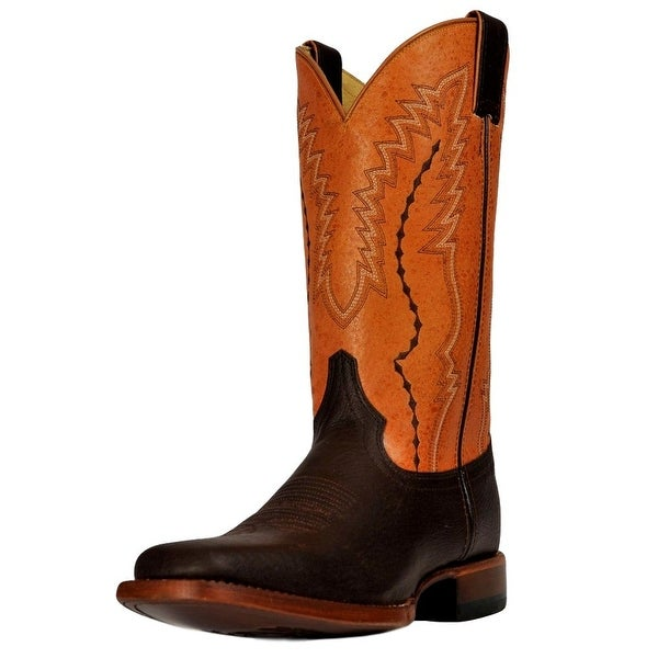 Cinch Western Boots Mens Square Toe Pull Tabs Dark Brown
