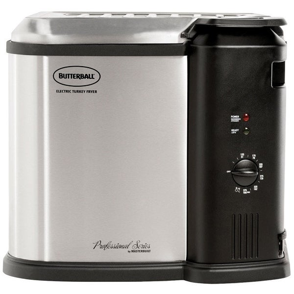 Masterbuilt 23010115 Butterball Indoor Electric Turkey Fryer, 1650 W, Silver