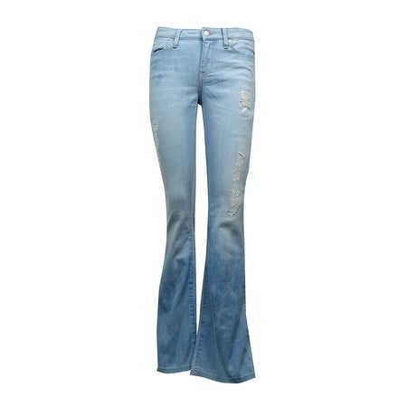 e92d205721d51 Shop Calvin Klein Jeans Women s Distressed Blotched Flare-Leg Jeans - Free  Shipping On Orders Over  45 - Overstock - 15018906