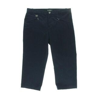 Lauren Active Womens Twill Solid Capri Pants - 10