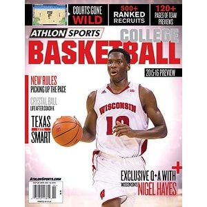 201516 Athlon Sports College Basketball Preview Magazine Wisconsin Badgers Cover