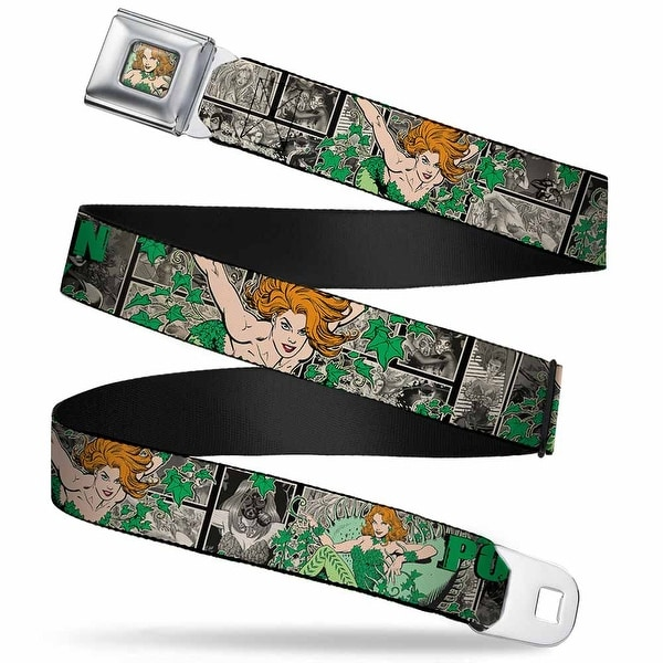 Poison Ivy Face Full Color Greens Poison Ivy Poses Comic Scenes Grays Seatbelt Belt