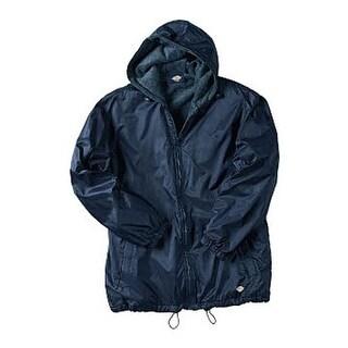 Dickies Men's Fleece Lined Hooded Nylon Jacket Dark Navy