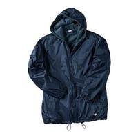 Dickies Men's Fleece Lined Hooded Nylon Jacket Dark Navy