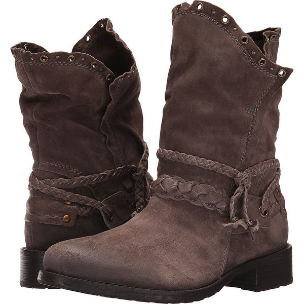 Trask Womens Naomi, Gray Suede, Size 10.0