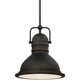 """Westinghouse 63087B Boswell 11"""" Wide Single Light LED Pendant with Metal Shade"""