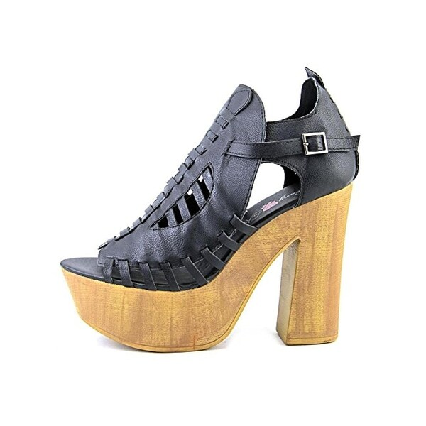 Penny Loves Kenny Womens Merlin Platform Sandals Faux Leather Cut-Out