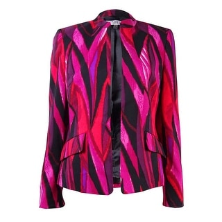 Kasper Women's Abstract-Print Open Front Blazer (Option: 8)
