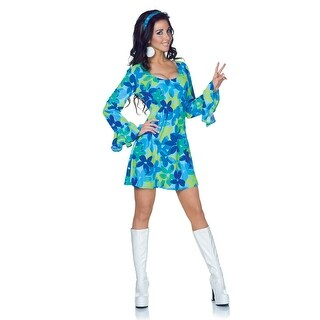 Plus Size 70s Wild Flower Retro Dress Costume
