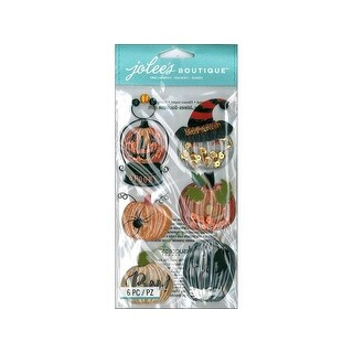 EK Jolee's Boutique Large Pumpkin Snow Globes