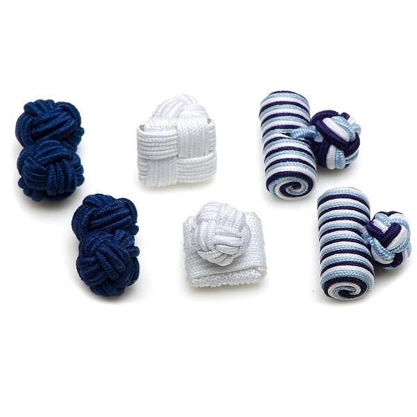Deep Sea Silk Knot Combo Cufflinks