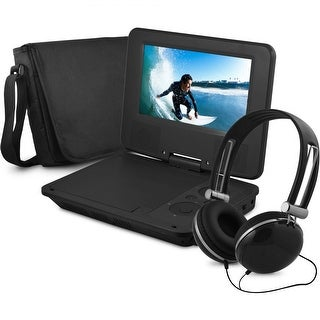 "Onn ONA16AV008 7"" Portable DVD Player w/ Headphones 4-HR Battery Manufacturer Refurbished"