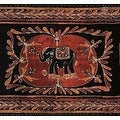 Handmade Cotton Lucky Elephant Batik Print Tapestry Wall Hang Tablecloth Spread Coverlet Beach Sheet Throw Dorm Decor - 3 Sizes - Thumbnail 0