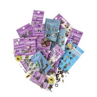 School Specialty Metal Assorted Shape Charm, 1/2 - 1-1/2 in Dia, Pack of 100