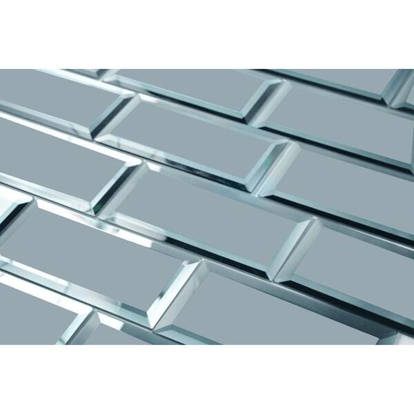 "Miseno MT-WHSREM0306-GR Reflections - 3"" x 6"" Rectangle Wall Tile - Matte Visual - Gray"