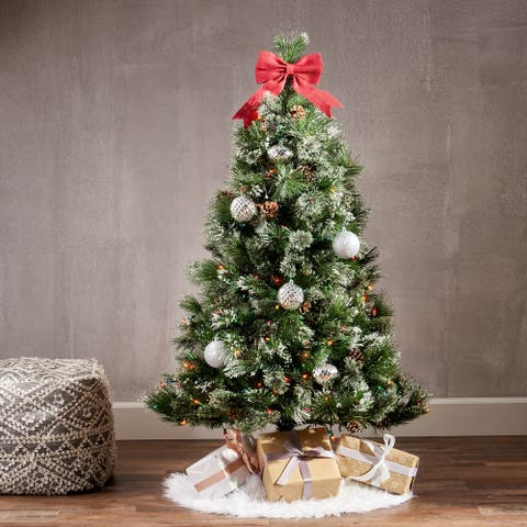4.5-foot Cashmere Pine and Mixed Spruce Artificial Christmas Tree by Christopher Knight Home