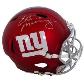 Eli Manning Signed New York Giants Full Size Blaze Speed Replica Helmet Steiner