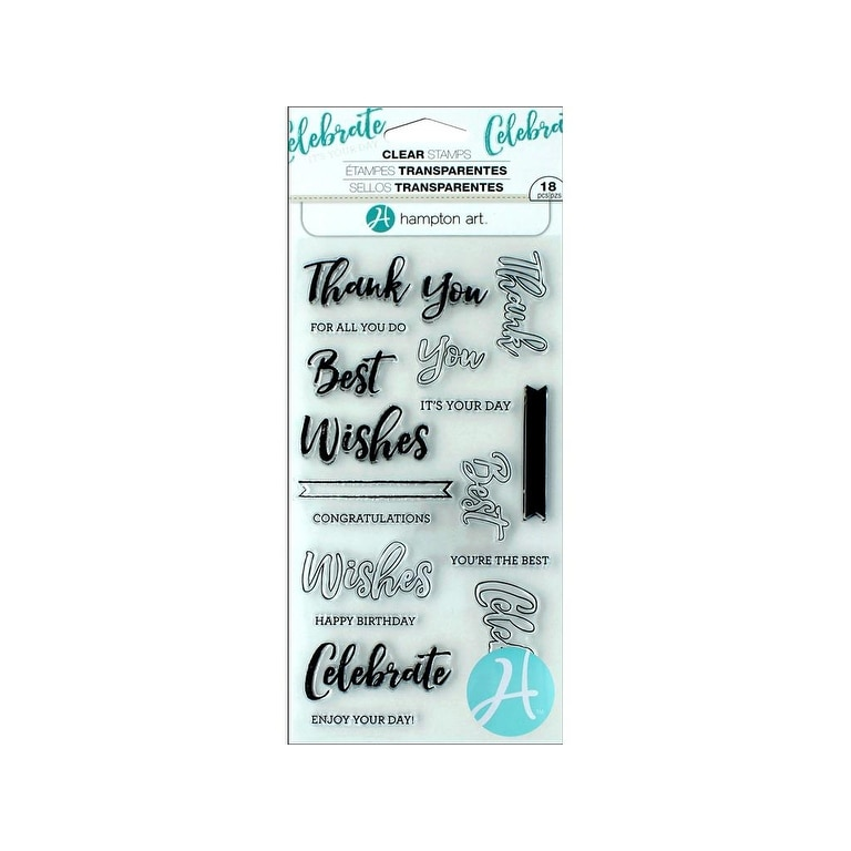 4 x 8-inch Hampton Art Hampton Art Impressions Clear Stamps His And Hers
