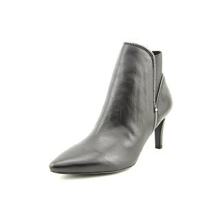 Tahari Maribel Women Round Toe Leather Black Ankle Boot