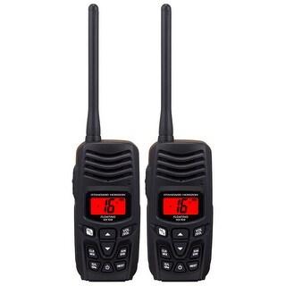 Standard Horizon HX150 Floating Handheld VHF Slim Waterproof Radio (2 Pack) New