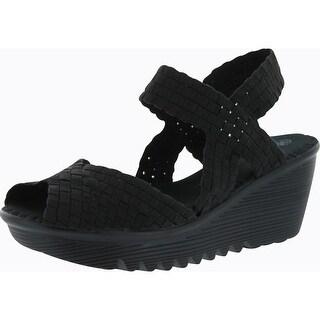 Bernie Mev Womens Fame Woven Sandals - Black