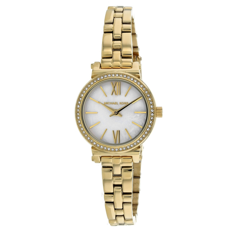 Michael Kors Womens Sofie White MOP Dial Watch