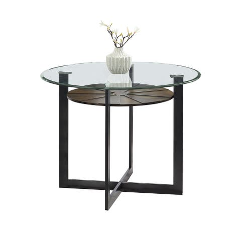 Orrick 48-Inch Glass Top Counter Height Dining Table by Greyson Living - Charcoal