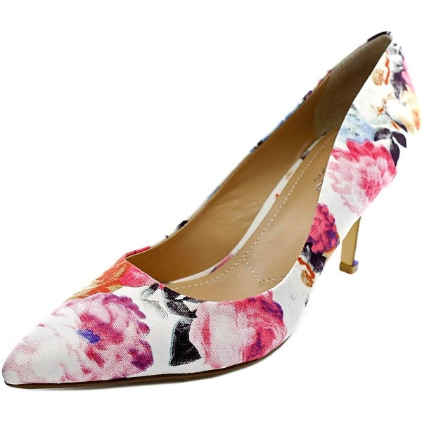 Charles By Charles David Sasha Women Pointed Toe Canvas Multi Color Heels