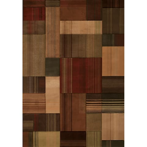 Westfield Home Sculptures Claire Hand Carved Toffee Area Rug