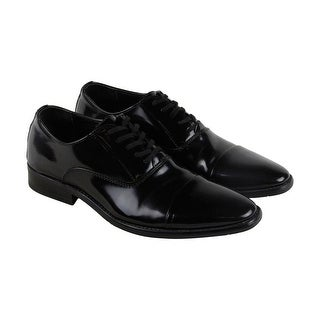 Calvin klein Radley Box Smooth Mens Black Patent Leather Lace Up Oxfords Shoes
