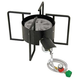 Bayou Classic KAB6 Cooker with Hose Guard - Black