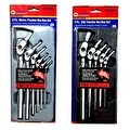 6 Pc. Metric Flexible Hex Key Set + 5 Pc. SAE Hex Key Set - Thumbnail 0